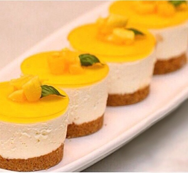 Mini Mango Cheesecake - Royal T Time